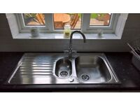 Chrome Monoblock Tap and Stainless Steel Sink