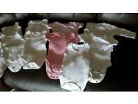Mixed bundle of new born girls clothes