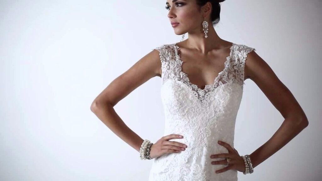 Vintage Wedding Dresses Maggie Sottero : New maggie sottero melanie lace vintage wedding dress 10 12 in