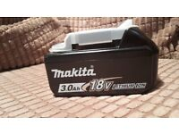 BRAND NEW Genuine Makita 18V 3.0Ah Li-Ion LXT Battery BL1830B