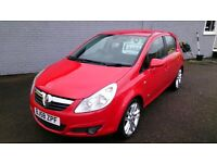 2009 VAUXHALL CORSA DESIGN 1.3 CDTI 5 DOOR 6 SPEED DIESEL RED NEW MOT 91K F/S/H ALLOYS CD E/W E/M +