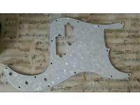 2 pearloid P bass scratchplates