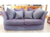 Gorgeous 2 Seater Bucket Sofa! (Purple/Heather Colours, Must Collect)