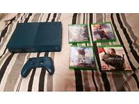 XBOX ONE S 500GB, Blue Edition. Incl 4 top games!