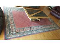 Modern terracotta coloured rug 290 x 196cm (9'7 x 6'6) approx