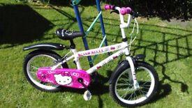 Halfords Hello Kitty Kids Bike - age guide 3-5