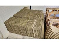 450x450mm (18x18in) buff riven paving slabs they need power jetting