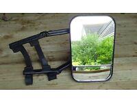 Extendable car mirror for caravan users.
