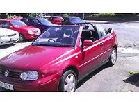 VW GOLF CONVERTIBLE 2L 1998 £750