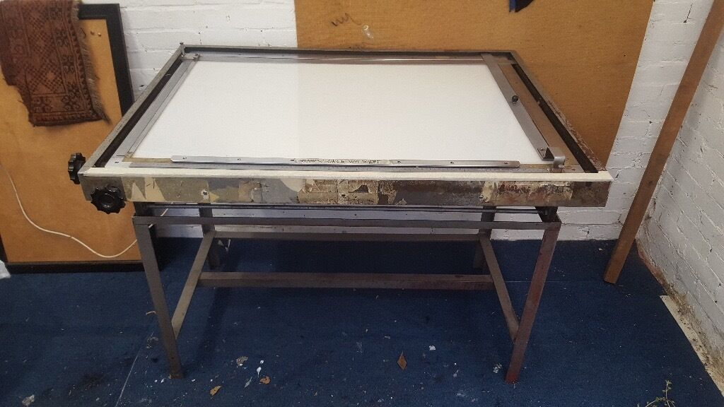 Drafting Table With Light Box Top Great Condition