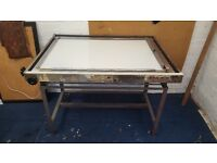 Drafting Table with light box table top- Great Condition!