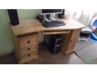 Corona Corner Desk - Mexican Style, Solid Pine