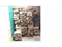 250 OLD RED BRICKS FOR SALE. 50P PER BRICK AVAILABLE FOR PICK UP. £80 for the lot