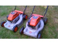 2x Briggs and Stratton petrol lawnmowers . Mowers