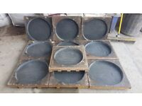 X10 riven 450mm circle paving slab moulds flags tiles concrete