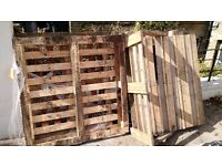 4 used pallets