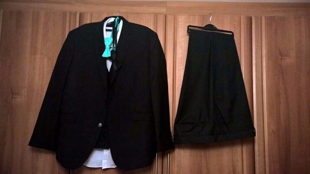 Black Tuxedo & Waistcoat (Worn Once)