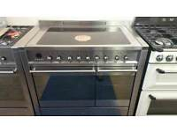 100cm fully reconditioned Smeg induction range cooker