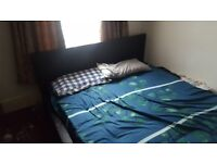 DOUBLE BED WITH MATTRESS £50 SOFA 1+1+1 £50