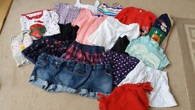 Selection of girls clothes aged 4 -5 years