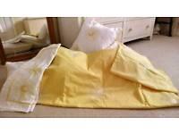 Dunelm Yellow Double Duvet Daisy Bedding Set