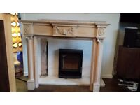 Wooden fireplace surround. Great condition, lovely details