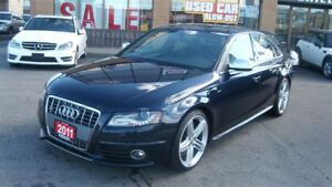 2011 Audi S4 3.0 Premium (S tronic)/LEATHER/SUNROOF/NAVIGATION