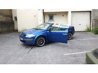 2004 Renault Megane Blue Convertible £850 or Swap Van, Motorcycles