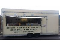 CATERING TRAILER BUISSNESS FOR SALE ESTABLISHE PITCH VERY GOOD TURNOVER ON BUSY NEWPORT RETAIL PARK