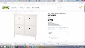 IKEA Shoe Cabinet - 4 compartment - BRAND NEW