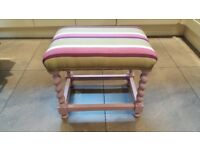 Stool or dressing table stool.
