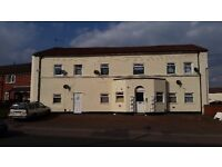 DSS welcome. 2 bedroomed flat with double glazing and central heating available