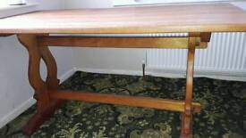 Refectory oak dining table. Sturdy. Good condition