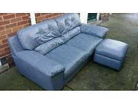 DFS leather sofa / FREE DELIVERY