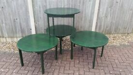NEED SOME EXTRA TABLES FOR YOUR NEW YEAR PARTY 4 GREEN CIRCULAR PARKER KNOLL TABLES
