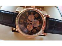 New Swiss Patek Phillippe rose gold men's watch for sale! £40!