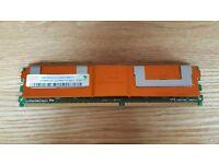 Hynix 2GB (1GB x 2) DDR2 SERVER RAM with heatsink / PC2-5300F-555-11 /398706-051