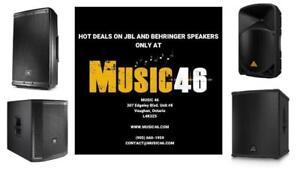 SALES ON SPEAKERS AND SUBWOOFERS - JBL AND BEHRINGER