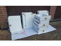 B&Q ivory shaker-style kitchen cupboard doors, cupboards and drawers