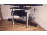 Glass and Chrome TV unit / stand
