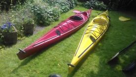Two Touring or Sea Kayaks or Canoes - Chinook (early Perception) Aquaterras