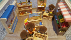Sylvanian Village Shop and Dog Family