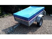 5' x 4' Franc tipper trailer, very good condition, new spare wheel.