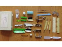 Knitting Machine KR-850 Ribbing Attachment +LOTS of Accessories + Table Brother Manufacturer