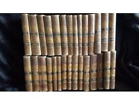 A COLLECTION OF 29 DANISH BOOKS IN A USED CONDITION BEAUTIFULLY BOUND WRITTEN IN DANISH