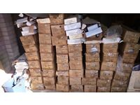 Job lot of wood venetian blinds. Various sizes