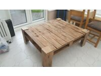 coffee table rustic looking solid used