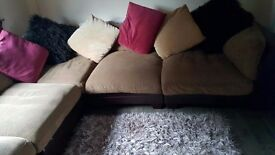 Corner Sofa....Upholstery/Leather combination...Seats 6 comfortably