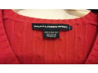 Genuine Ralph Lauren Ladies jumper for sale, as new condition., unwanted gift.