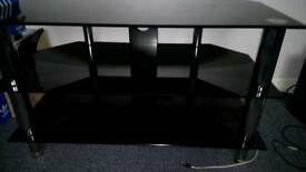 Tempered black glass TV/display unit